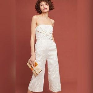 Anthropologie Natalie Embroidered WideLeg Jumpsuit